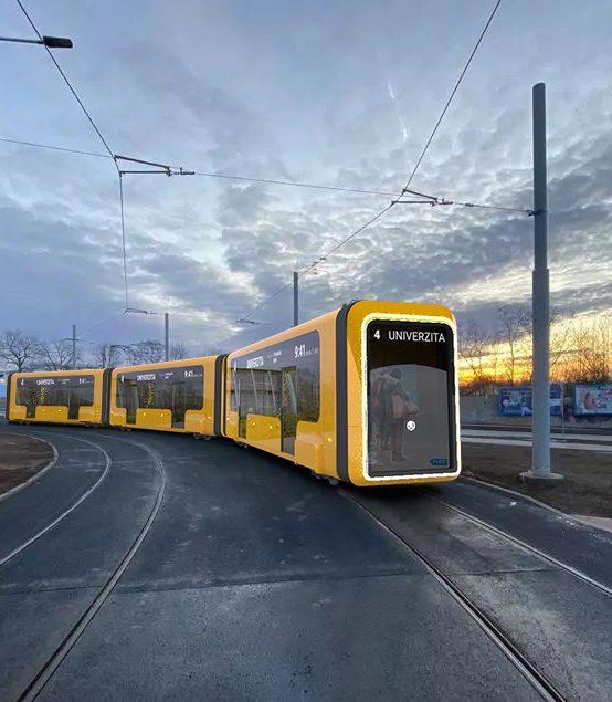 Tramvaj bez řidiče. Studenti představili svoji vizi městské kolejové dopravy 2050
